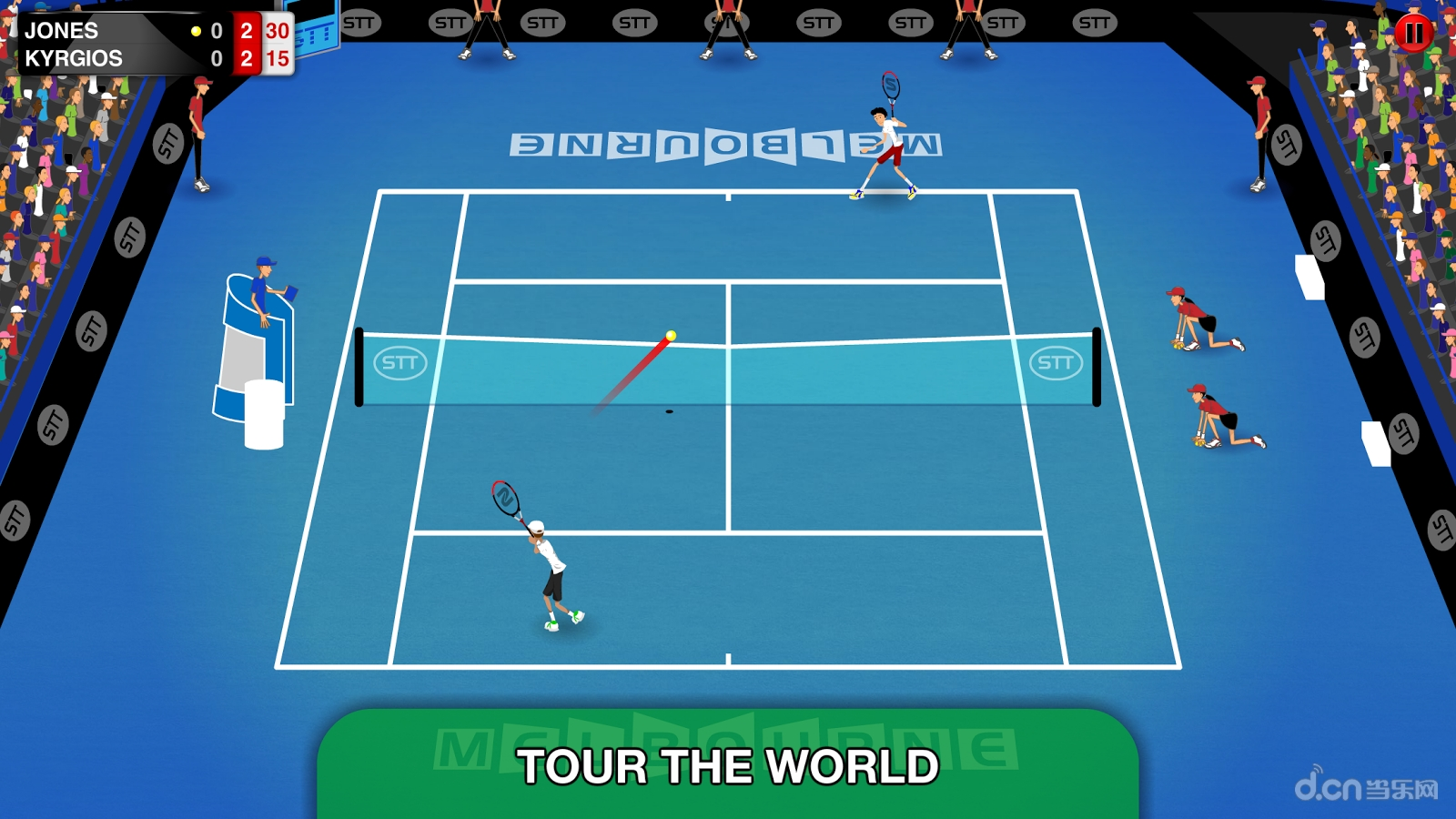 简介 《火柴人网球巡回赛 stick tennis tour》是一款体育运动游戏.
